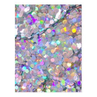 グリッターの紙吹雪の輝き ポストカード