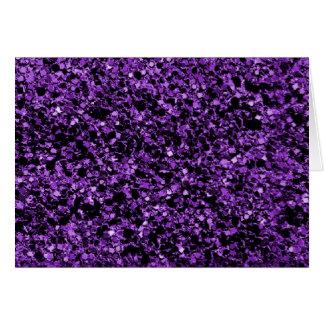 グリッターの紫色のノート ノートカード