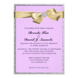 グリッターの結婚式招待状 12.7 X 17.8 インビテーションカード
