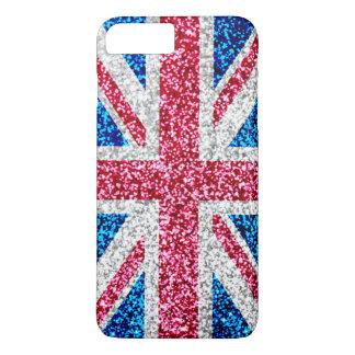 グリッターの英国国旗のイギリスのイギリスの旗 iPhone 8 PLUS/7 PLUSケース