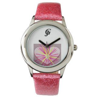グリッターの革紐のeWatch 腕時計