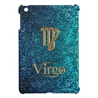 グリッターの(占星術の)十二宮図の印の《星座》乙女座のiPad Miniケースの金ゴールド iPad Miniケース