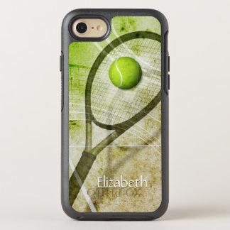 グリップの女性のテニスを得て下さい オッターボックスシンメトリーiPhone 8/7 ケース