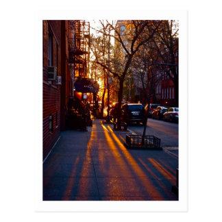 グリニッチビレッジの日没(c) 2012 S.Tammany ポストカード