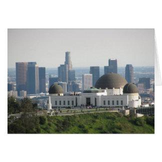 グリフィスの観測所および都心のロサンゼルス カード