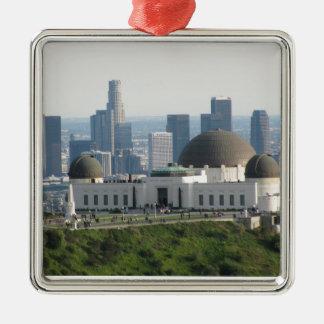 グリフィスの観測所および都心のロサンゼルス メタルオーナメント