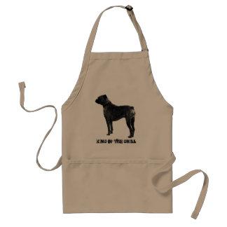 グリルのボクサー犬BBQのエプロン|王 スタンダードエプロン