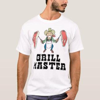 グリルのマスターのカウボーイ Tシャツ