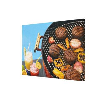 グリルの食糧 キャンバスプリント
