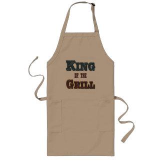 グリルBBQの料理のスローガンのエプロンの王 ロングエプロン