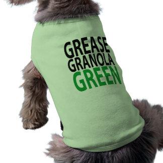 グリース、緑グラノーラ! ペット服