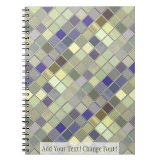 グリーンオリーブのタイルはカスタマイズ可能平方します ノートブック