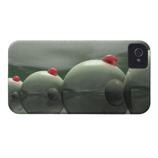 グリーンオリーブのテクノ Case-Mate iPhone 4 ケース