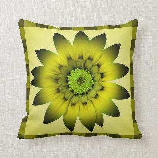グリーンオリーブの花のアートワーク-枕 クッション