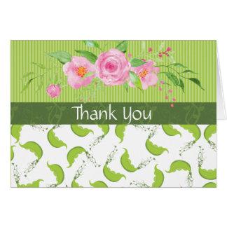 """グリーンピース""""ベビーシャワー感謝していしています""""は カード"""
