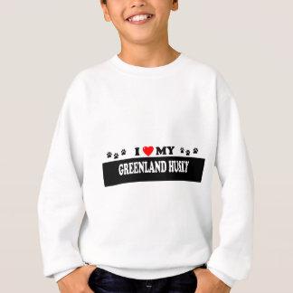 グリーンランドのハスキー スウェットシャツ