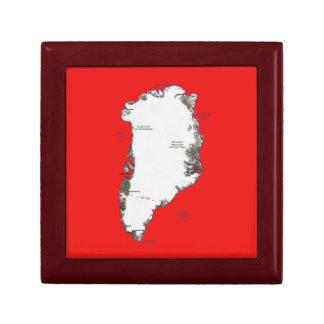 グリーンランドの地図のギフト用の箱 ギフトボックス