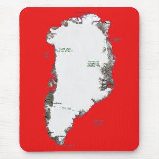 グリーンランドの地図のマウスパッド マウスパッド
