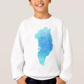 グリーンランドの地図 スウェットシャツ