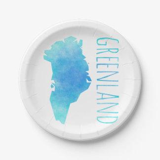 グリーンランドの地図 ペーパープレート