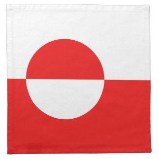 グリーンランドの旗のナプキン ナプキンクロス