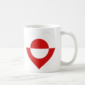グリーンランドの旗のハート コーヒーマグカップ