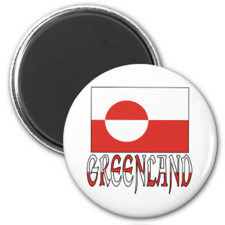 グリーンランドの旗の単語 マグネット