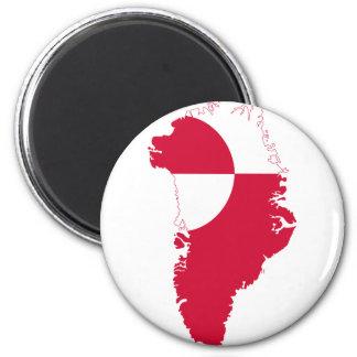 グリーンランドの旗の地図GL マグネット
