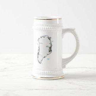 グリーンランドの旗の~の地図のマグ ビールジョッキ
