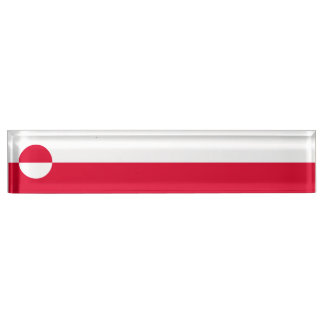 グリーンランドの旗 デスクネームプレート