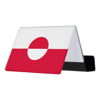 グリーンランドの旗 デスク名刺ホルダー