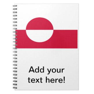 グリーンランドの旗 ノートブック