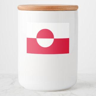 グリーンランドの旗 フードラベル