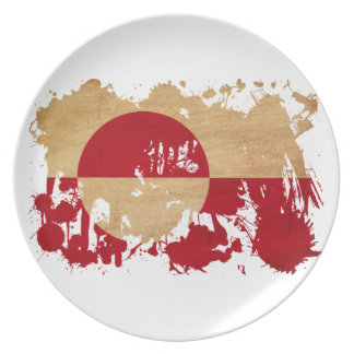 グリーンランドの旗 プレート