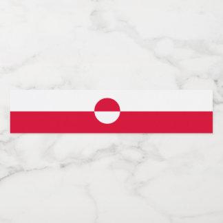 グリーンランドの旗 ペットボトルラベル
