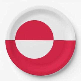 グリーンランドの旗 ペーパープレート