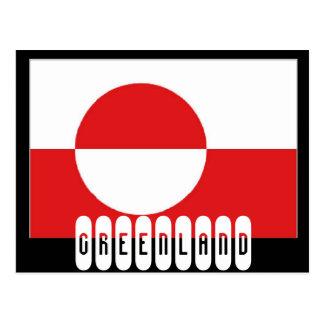 グリーンランドの旗 ポストカード