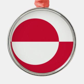 グリーンランドの旗 メタルオーナメント