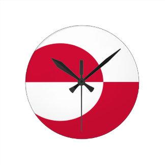 グリーンランドの旗 ラウンド壁時計