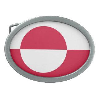 グリーンランドの旗 卵形バックル