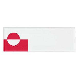 グリーンランドの旗 名札