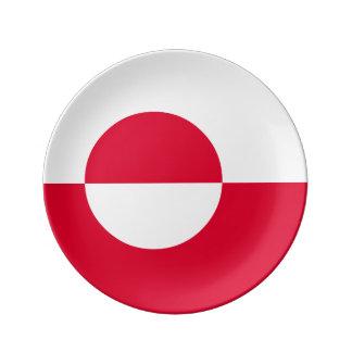 グリーンランドの旗 磁器プレート