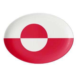 グリーンランドの旗 磁器大皿