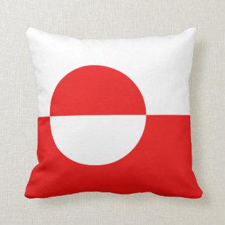 グリーンランドの旗Xの旗の枕 クッション