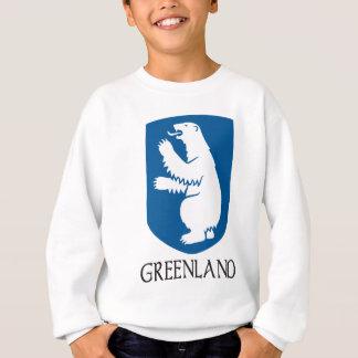 グリーンランドの紋章付き外衣 スウェットシャツ