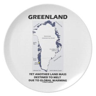 グリーンランド溶けるために予定される更に別の土地の固まり プレート