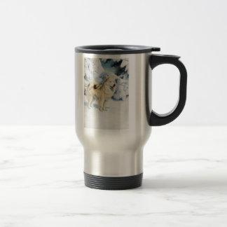 グリーンランド犬のマグ トラベルマグ