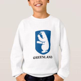 グリーンランド-または旗紋章か記号または紋章付き外衣 スウェットシャツ
