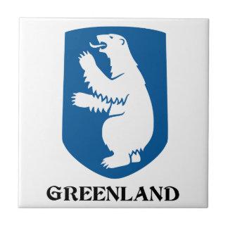 グリーンランド-または旗紋章か記号または紋章付き外衣 タイル