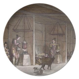 グリーンランド(色の版木、銅版、版画)のSmokehouse プレート